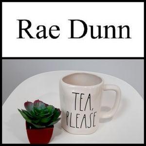 NEW Rae Dunn TEA,PLEASE Ceramic Mug